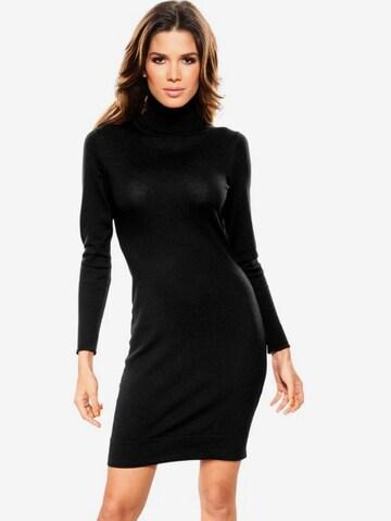Robes en maille heine en noir