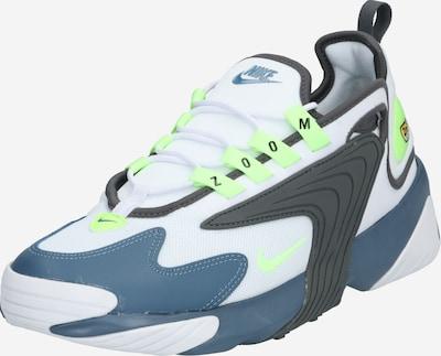 Nike Sportswear Baskets basses 'Nike Zoom 2K' en bleu-gris / gris / vert fluo / blanc, Vue avec produit