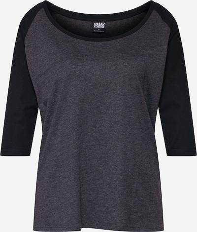 Urban Classics Shirt in dunkelgrau / schwarz, Produktansicht