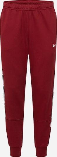 NIKE Pantalon de sport 'Repeat' en gris / rouge sang / noir / blanc, Vue avec produit