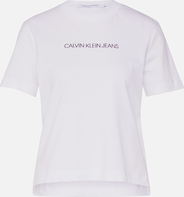 Calvin Klein Jeans Shirt 'SHRUNKEN INSTITUTIONAL LOGO TEE' in weiß, Produktansicht