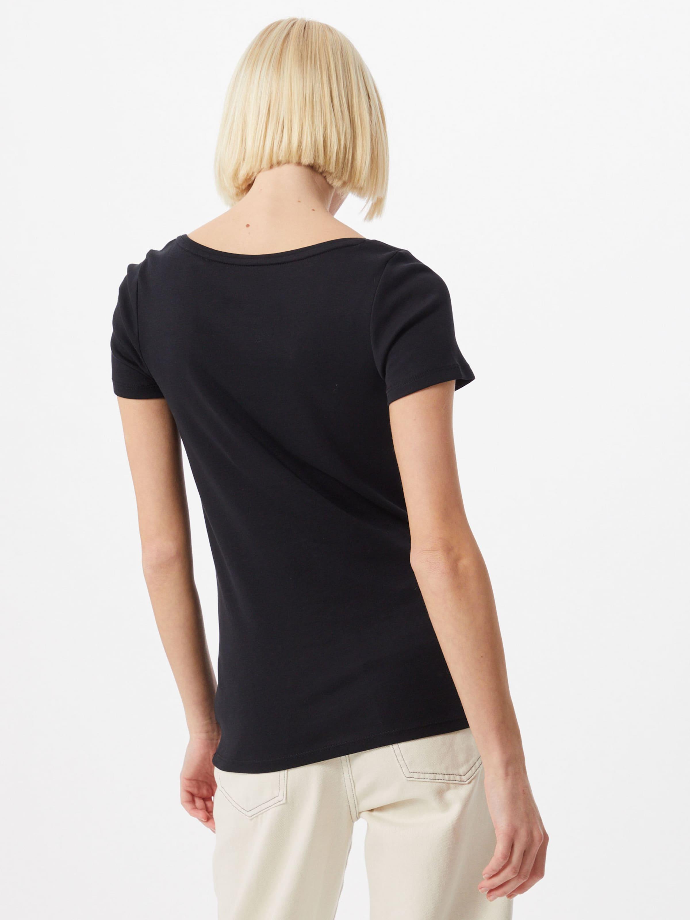 ESPRIT Póló 'Noos Core' fekete színben