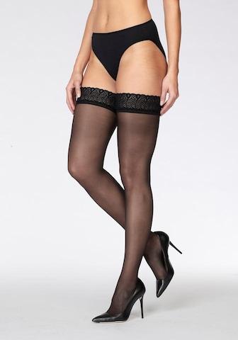 juoda LASCANA Prisegamos kojinės