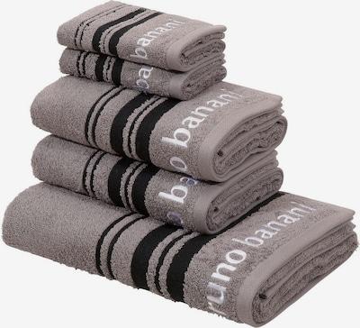 BRUNO BANANI Handtuch Set 'Daniel' in grau / schwarz / weiß, Produktansicht