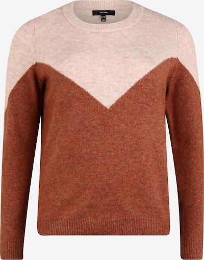 Vero Moda Curve Sweter 'Plaza' w kolorze brązowy / różowy pudrowym, Podgląd produktu