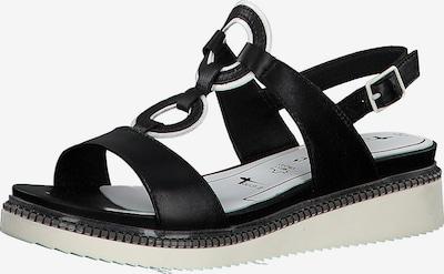 TAMARIS Klassische Sandaletten in schwarz: Frontalansicht