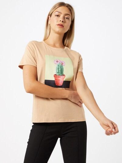 VERO MODA Koszulka 'VMLEONA' w kolorze beżowym: Widok z przodu