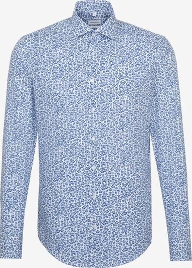SEIDENSTICKER Zakelijk overhemd in de kleur Blauw / Wit: Vooraanzicht