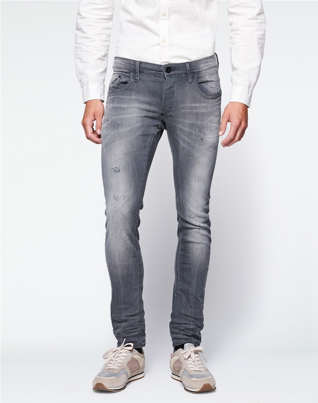G-Star RAW Jeans 'Revend Super Slim' in grau, Modelansicht