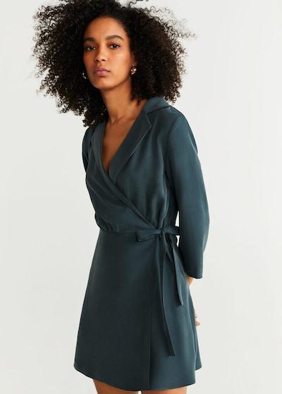 MANGO Kleid 'Calain' in dunkelgrün, Modelansicht