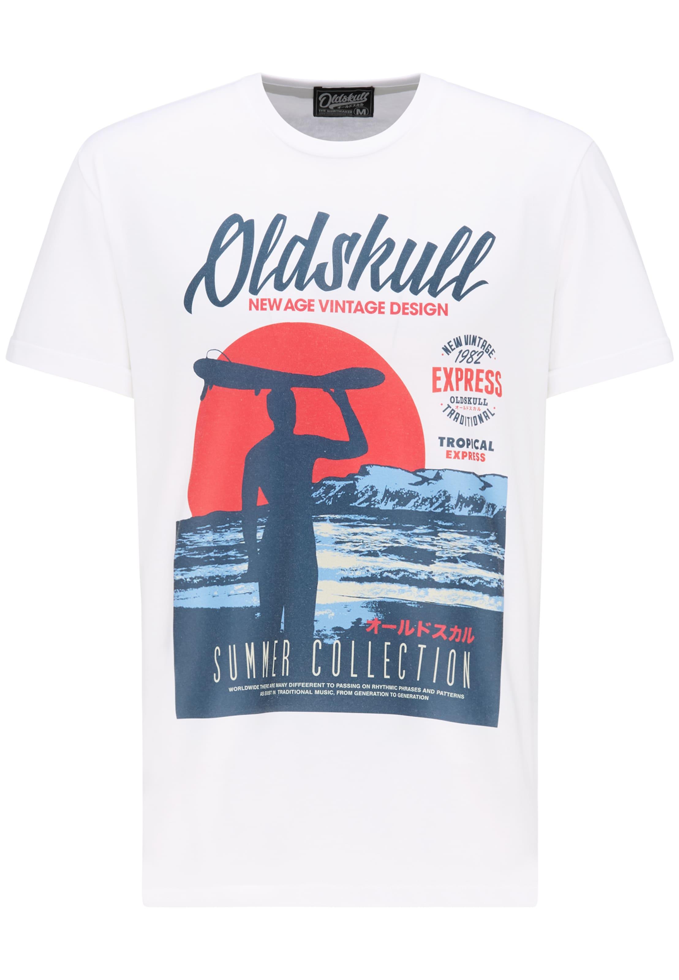 Oldskull T En Mélange De shirt CouleursBlanc ZPikOXu