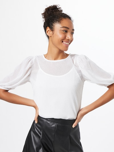 ONLY Bluse 'GRAY' in offwhite, Modelansicht