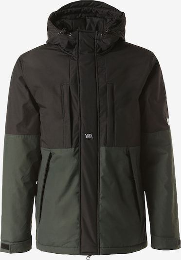 Young & Reckless Winterjas 'Lined Parka' in de kleur Groen / Donkergroen / Zwart, Productweergave