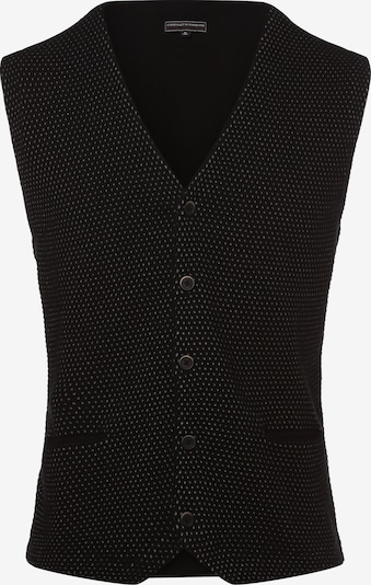 Finshley & Harding Strickweste in schwarz, Produktansicht