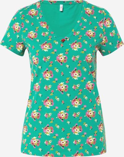 Tricou 'Sunshine' Blutsgeschwister pe verde / culori mixte, Vizualizare produs