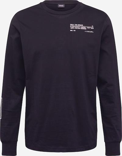 DIESEL Tričko - černá / bílá, Produkt