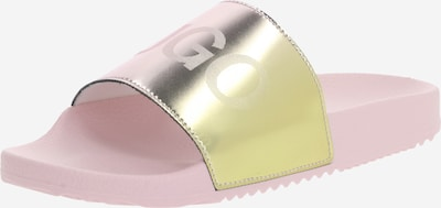 HUGO Slipper 'Time Out Slide-Fd' in gold / rosa, Produktansicht