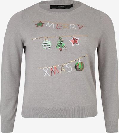 Vero Moda Curve Sweter 'Merry' w kolorze nakrapiany szarym: Widok z przodu