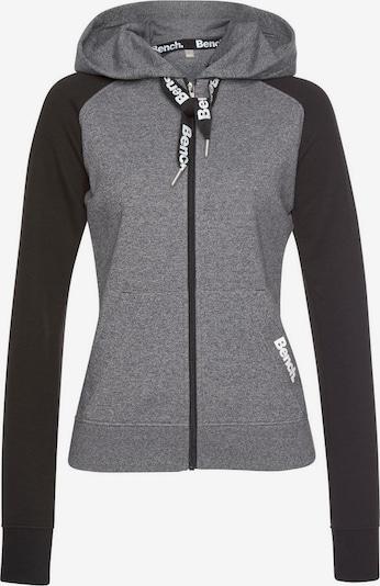BENCH Sweatjacke in dunkelgrau / schwarz, Produktansicht