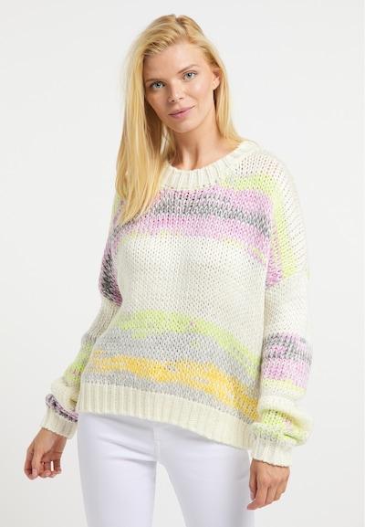 Usha Pullover in mischfarben / wollweiß, Modelansicht