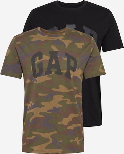 GAP Shirt 'ARCH' in de kleur Honing / Groen / Kaki / Zwart, Productweergave