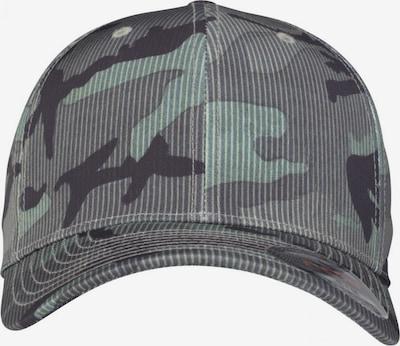 Flexfit Cap 'Camo Stripe' in grau / mint / schwarz, Produktansicht