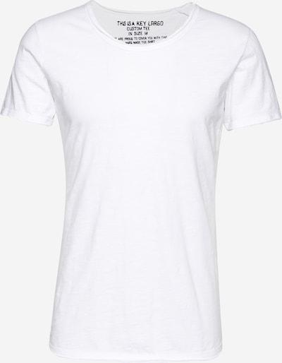 Key Largo Shirt 'T BREAD' in weiß: Frontalansicht