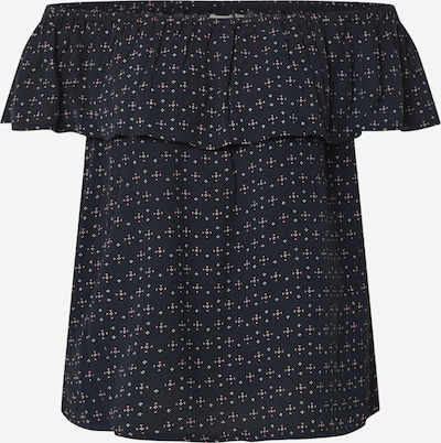 ICHI T-shirt 'MARRAKECH' en bleu foncé / rose / blanc, Vue avec produit