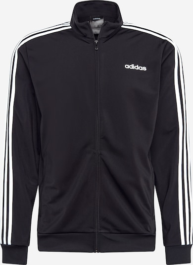 ADIDAS PERFORMANCE Jacke 'Essentials 3 Stripes' in schwarz / weiß, Produktansicht