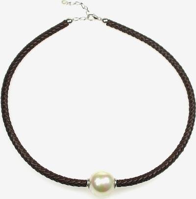 Orquidea Perlenkette 'Aisha' in dunkelbraun / perlweiß, Produktansicht