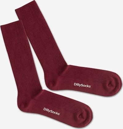DillySocks Socken in weinrot, Produktansicht