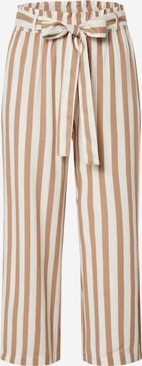 ONLY Kalhoty - hnědá / bílá, Produkt
