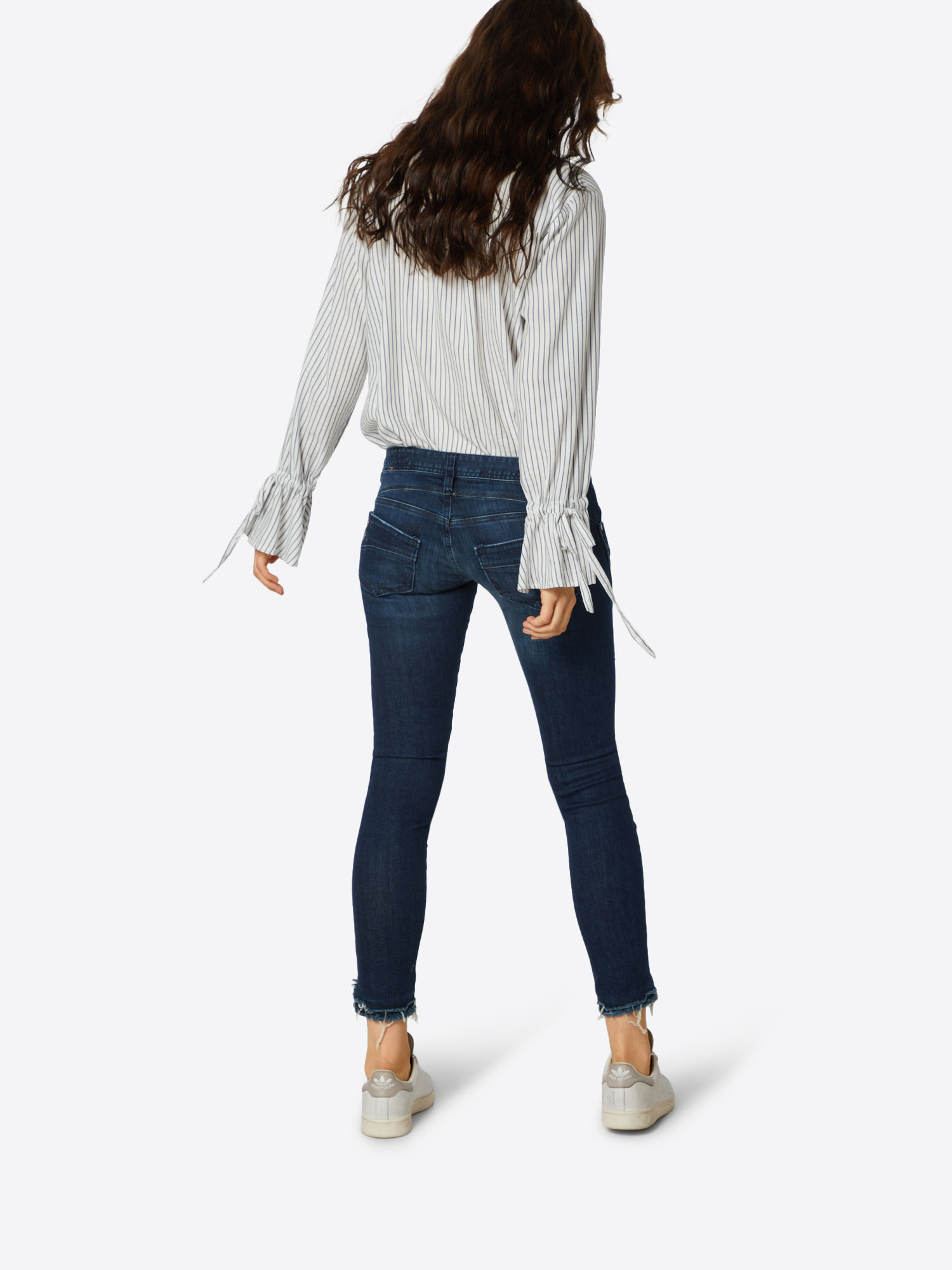Herrlicher Jeans 'Piper Cropped Powerstretch' in Donkerblauw 61a8r74p