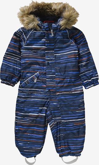Reima Schneeanzug 'Lappi' in blau / nachtblau / orange / weiß, Produktansicht