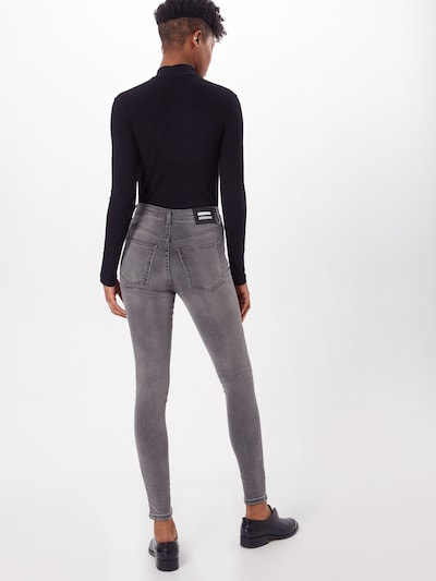 Dr. Denim Jeans 'Erin' in de kleur Grey denim: Achteraanzicht