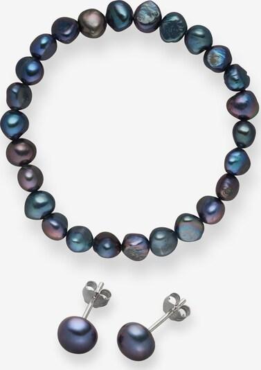 Valero Pearls Süßwasserzuchtperlen Armband und Ohrstecker (2er Set) in enzian, Produktansicht