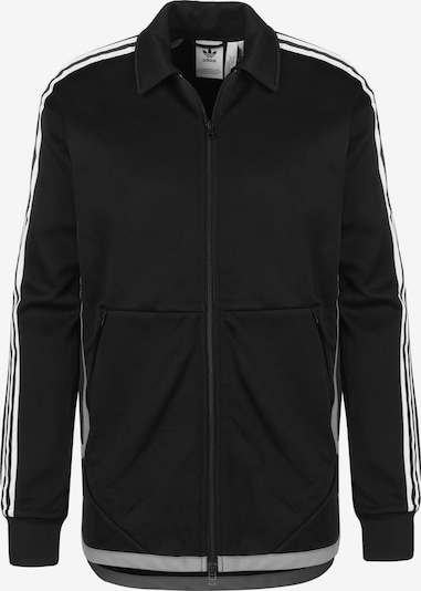 ADIDAS ORIGINALS Trainingsjacke 'Windsor TT' in grau / schwarz / weiß, Produktansicht