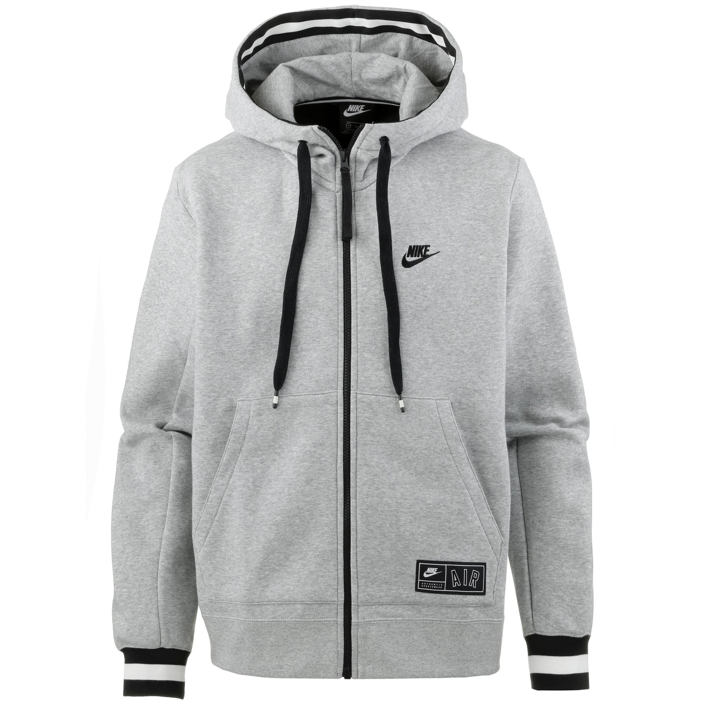 'nike Air' Weiß In Sportswear Sweatjacke GraumeliertSchwarz Nike n0OPk8w