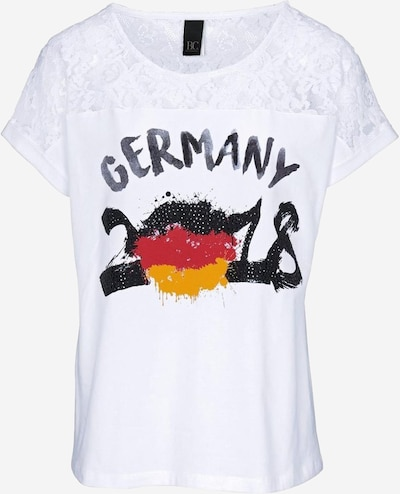 heine Druckshirt 'Germany 2018' in weiß, Produktansicht