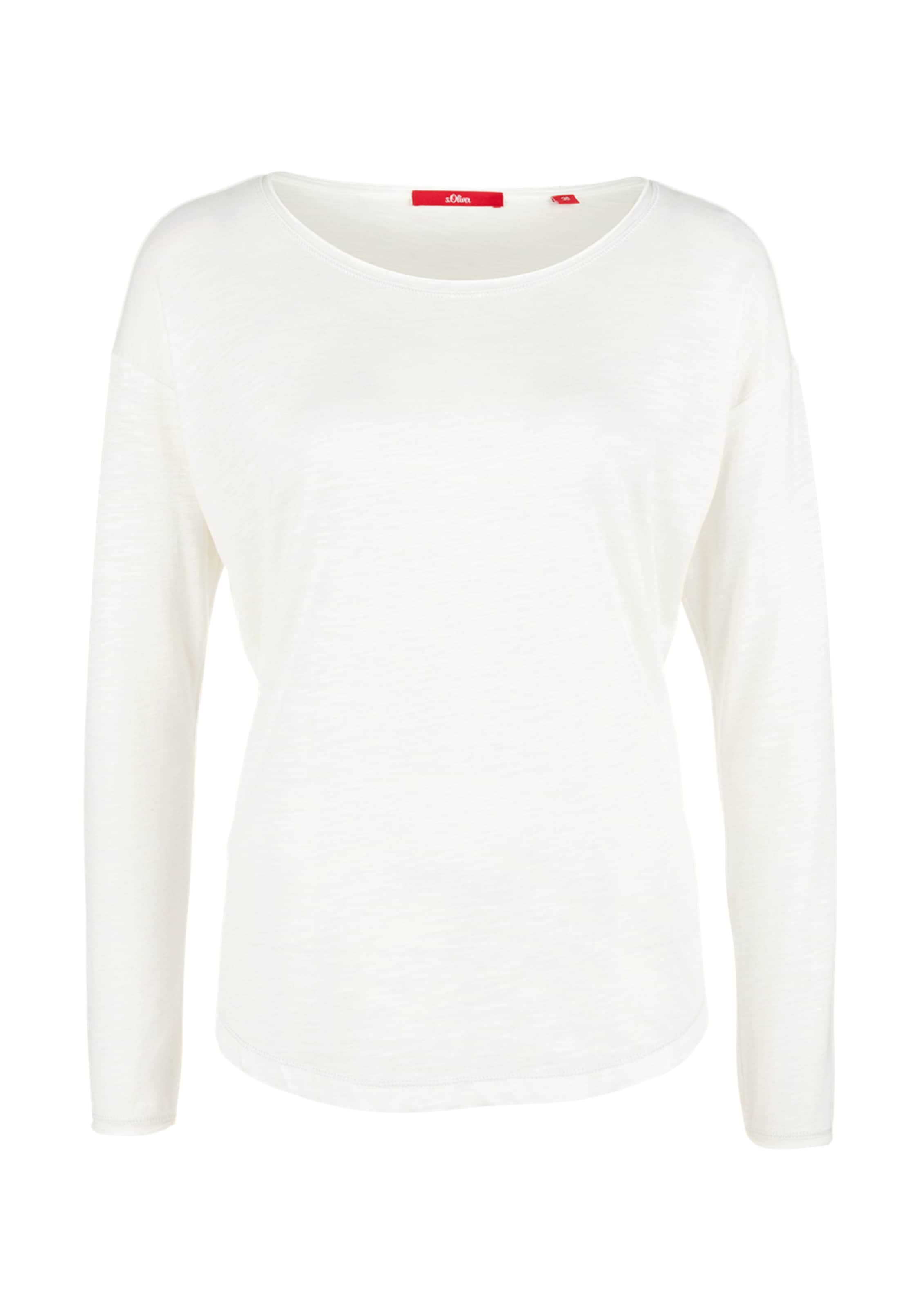 In oliver Longsleeve S Label Offwhite Red oedCBx