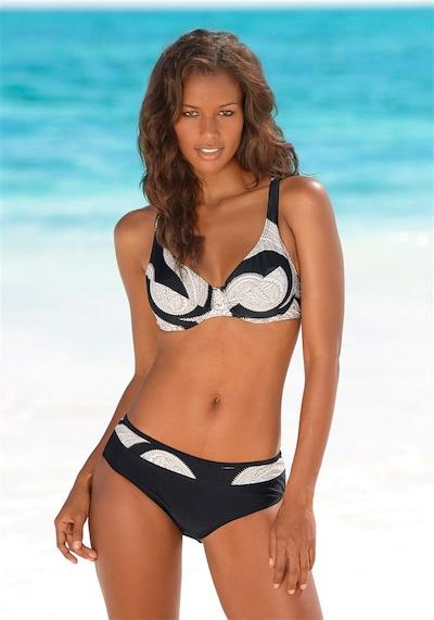 Bikini LASCANA di colore nero / bianco: Vista frontale
