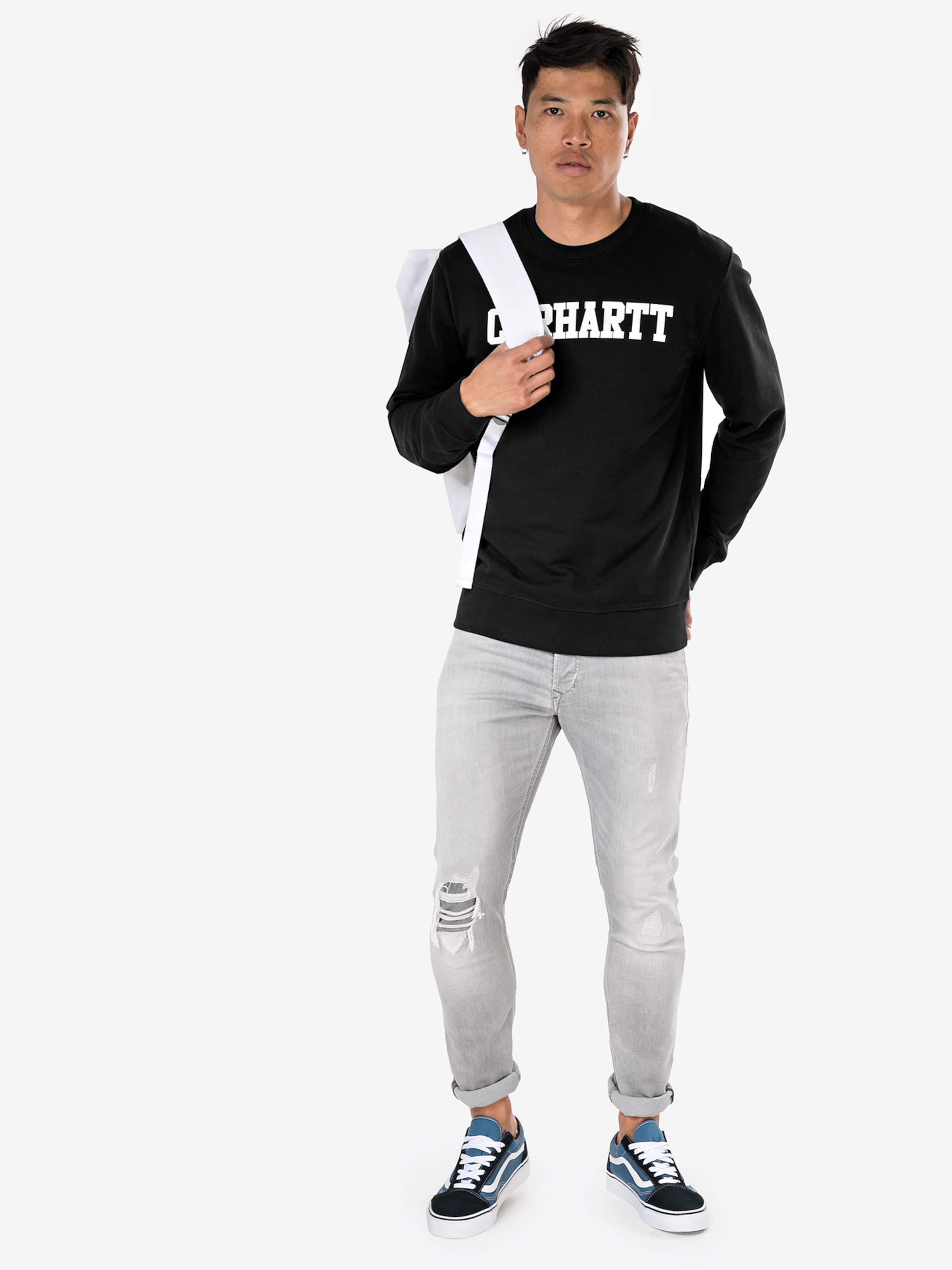 Sweatshirt SchwarzWeiß In Wip 'college' Carhartt OuTPXikZ