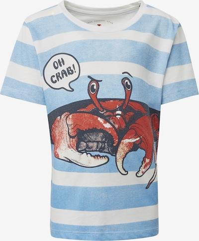 TOM TAILOR Shirt in blau / weiß, Produktansicht