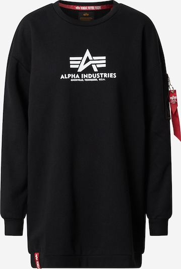 ALPHA INDUSTRIES Sweatshirt 'Basic Long Sweater OS Wmn' in schwarz, Produktansicht