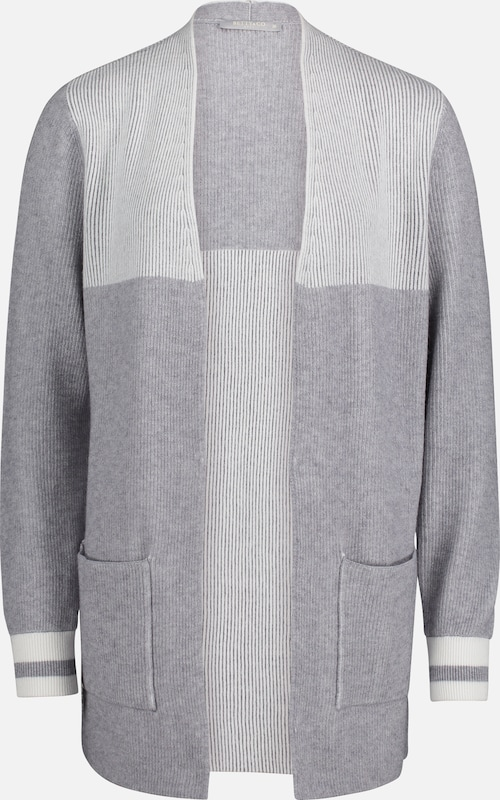 Betty & Co Cardigan in grau / naturweiß, Produktansicht