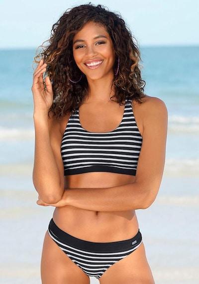 VENICE BEACH Bas de bikini en noir, Vue avec modèle