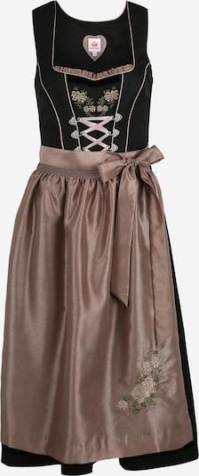 SPIETH & WENSKY Dirndl 'Paula' in taupe / schwarz, Produktansicht