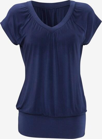 LASCANA T-shirt en bleu foncé, Vue avec produit