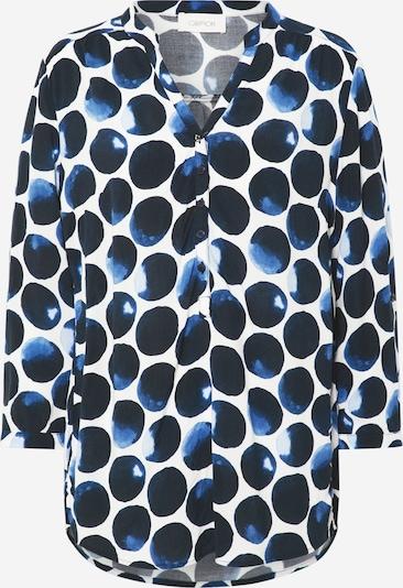 Cartoon Bluse in dunkelblau / weiß, Produktansicht