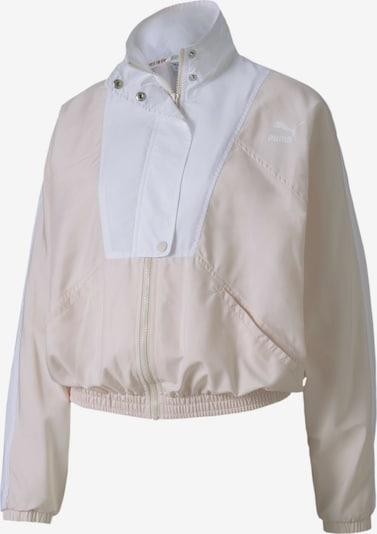 PUMA Trainingsjacke in hellbeige / perlweiß, Produktansicht